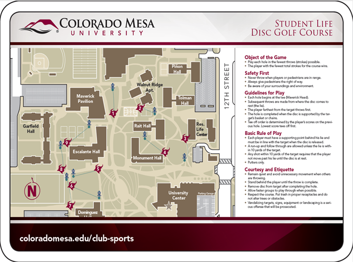 Colorado Mesa University Map Disc Golf Club   Colorado Mesa University Athletics